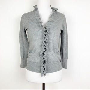 J. Crew Women's Ruffle Cardigan Sweater